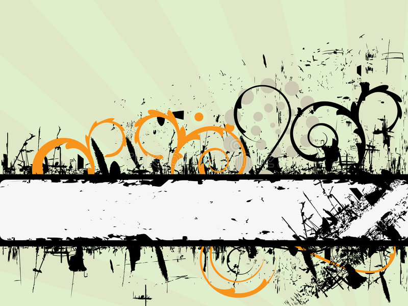 De banner van Grunge vector illustratie