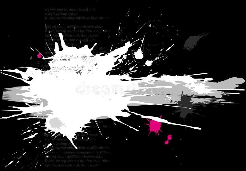 De banner van Grunge met splats royalty-vrije illustratie