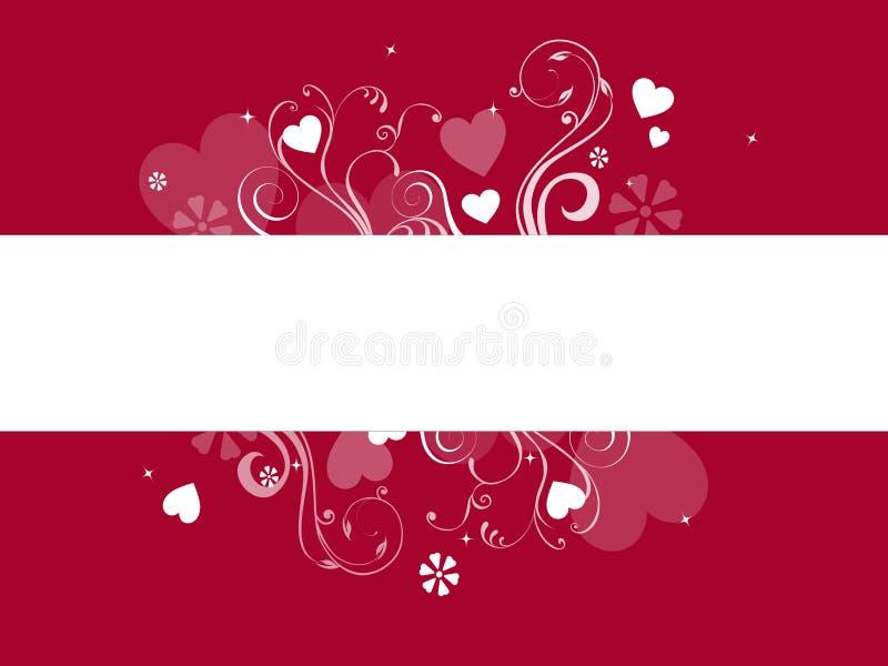 De banner van harten royalty-vrije illustratie