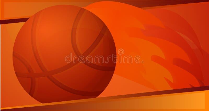 De banner van het de balconcept van de basketbalbrand, beeldverhaalstijl stock illustratie