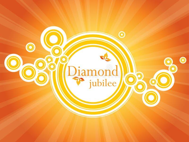 De banner van het diamanten jubileum stock illustratie