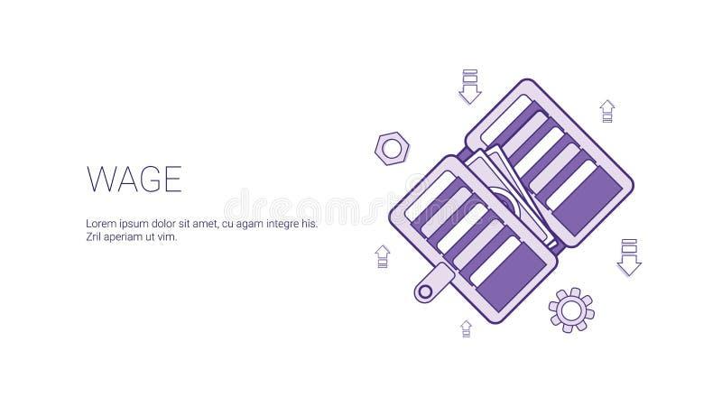 De Banner van het loonweb met Concept Exemplaar het Ruimte van Bedrijfssalarisinkomens stock illustratie
