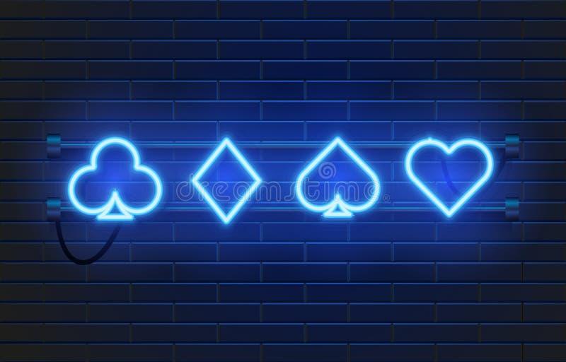De banner van het T.L.-buiscasino op muurachtergrond Pook of blackjackkaartspelsteken Het Concept van Las Vegas royalty-vrije illustratie