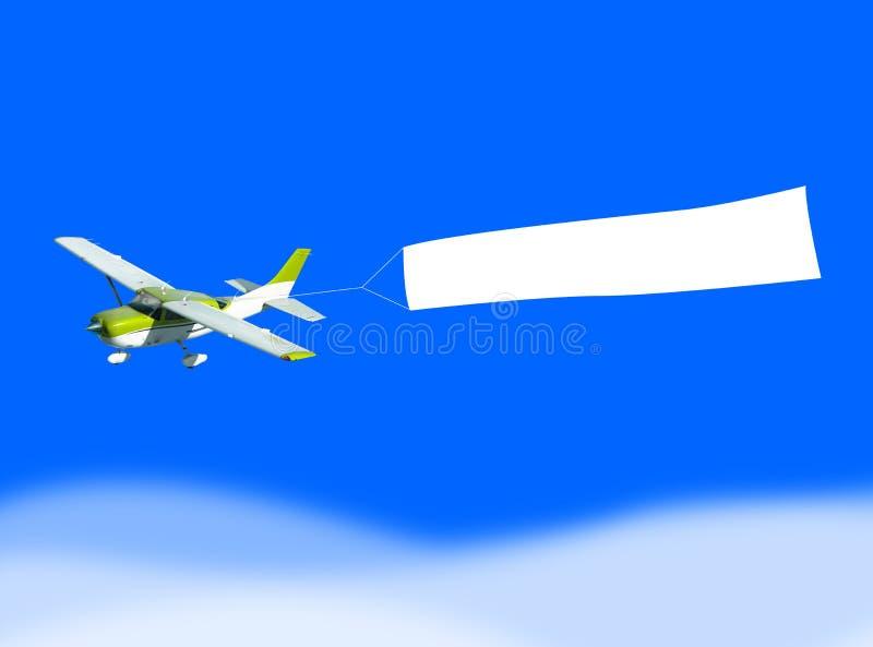 De banner van het vliegtuig vector illustratie