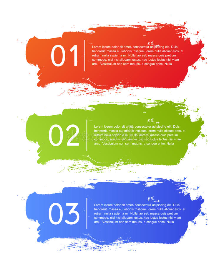 De banner van infographicsopties van borstelslagen vector illustratie