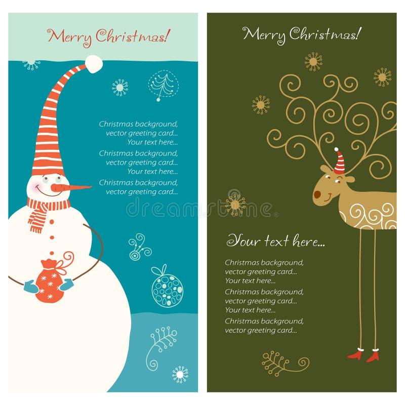 De banner van Kerstmis vector illustratie