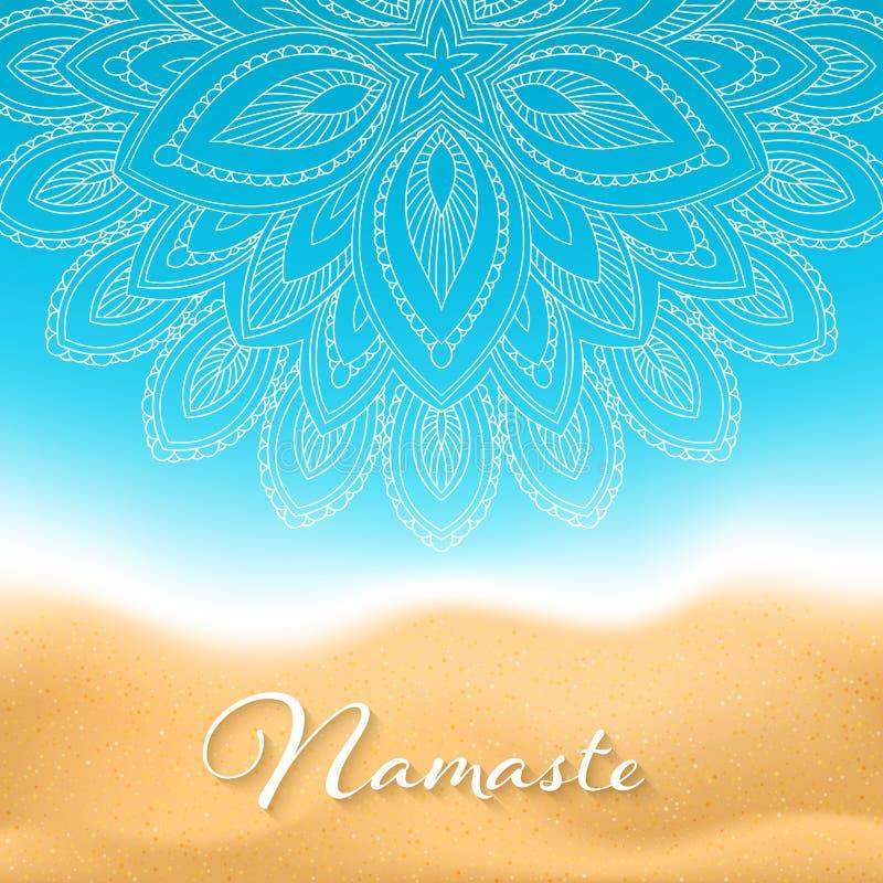 De banner van Namastemandala stock illustratie