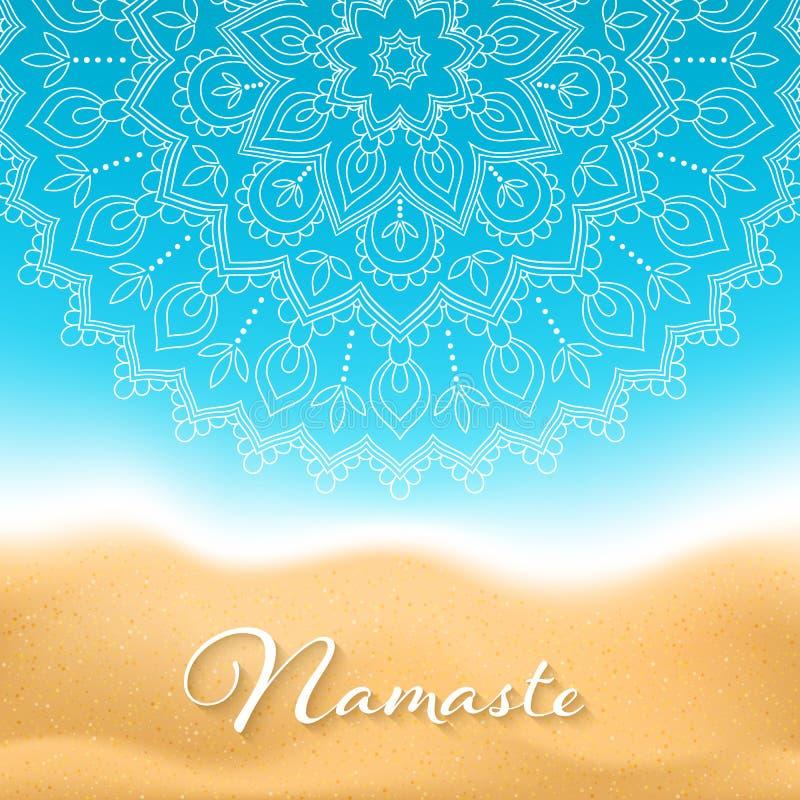 De banner van Namastemandala vector illustratie