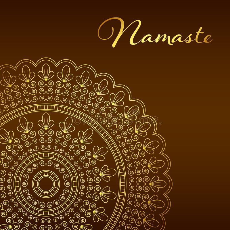De banner van Namastemandala royalty-vrije illustratie
