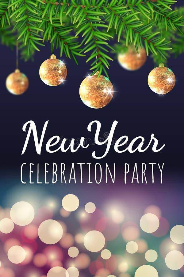 De banner van de nieuwjaarpartij stock illustratie