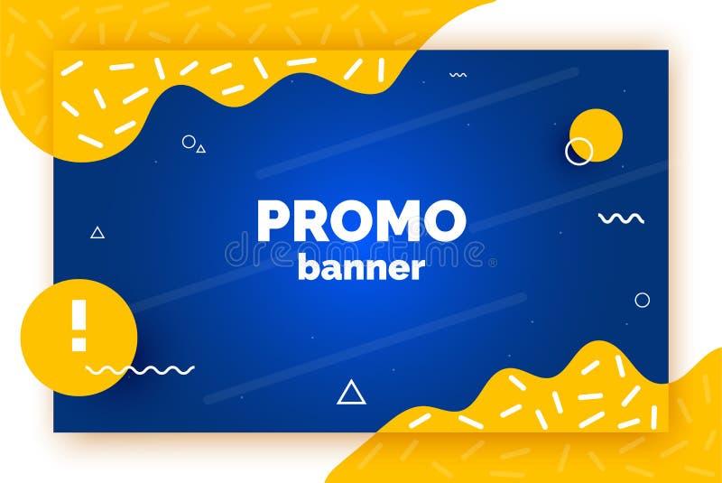 De banner van de Webbevordering voor verkoop, aanbieding, reclame In vectorachtergrond, vlieger, affiche, pagina, dekking met sam royalty-vrije illustratie
