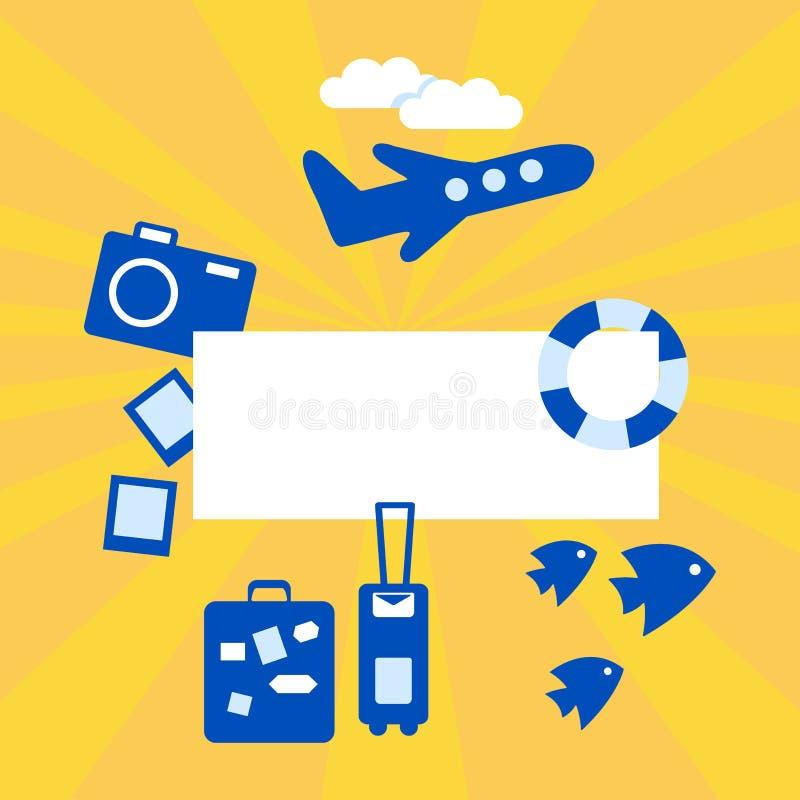 De banner van de zomer Vector illustratie royalty-vrije illustratie