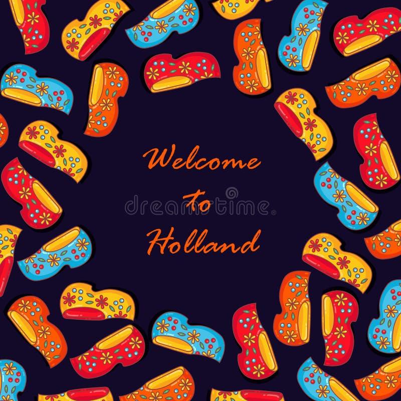 De banner vectormalplaatje van belemmeringenholland Nederland vector illustratie