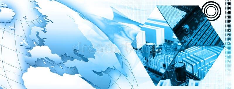 De bannerachtergrond van de technologie vector illustratie