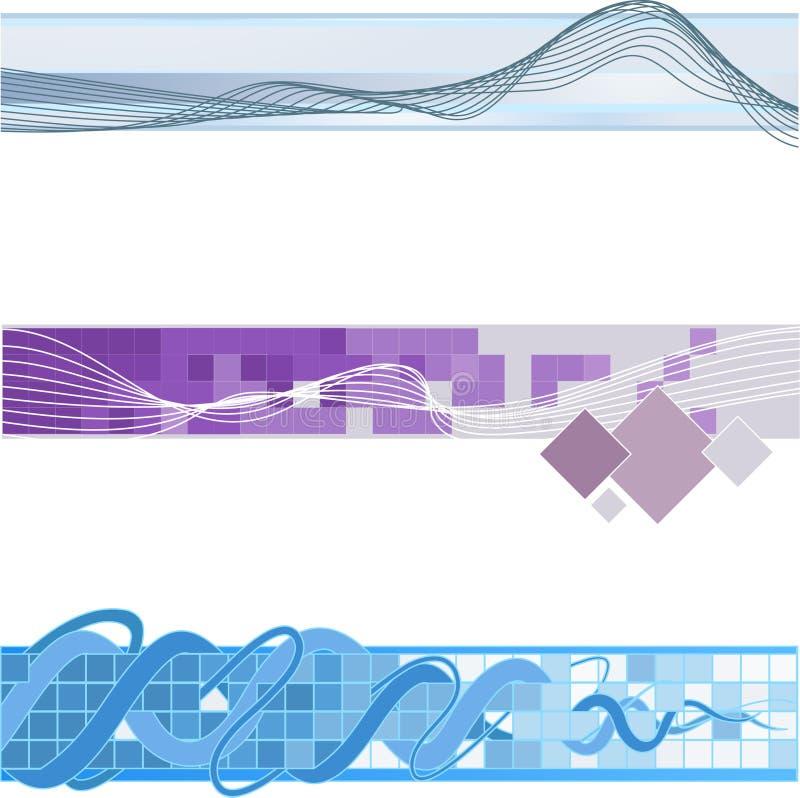 De bannerachtergronden van de website vector illustratie