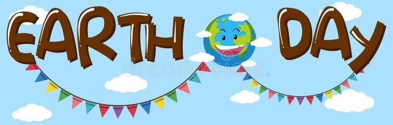De bannerconcept van de aardedag vector illustratie