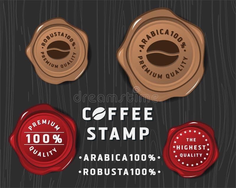 De bannerontwerp van het koffiekenteken royalty-vrije illustratie