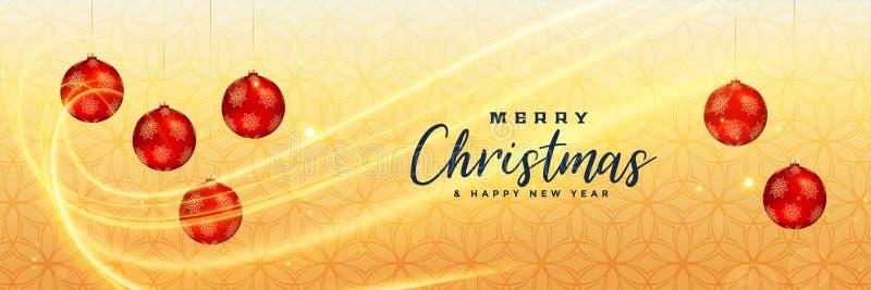 De bannerontwerp van premie vrolijk Kerstmis stock illustratie