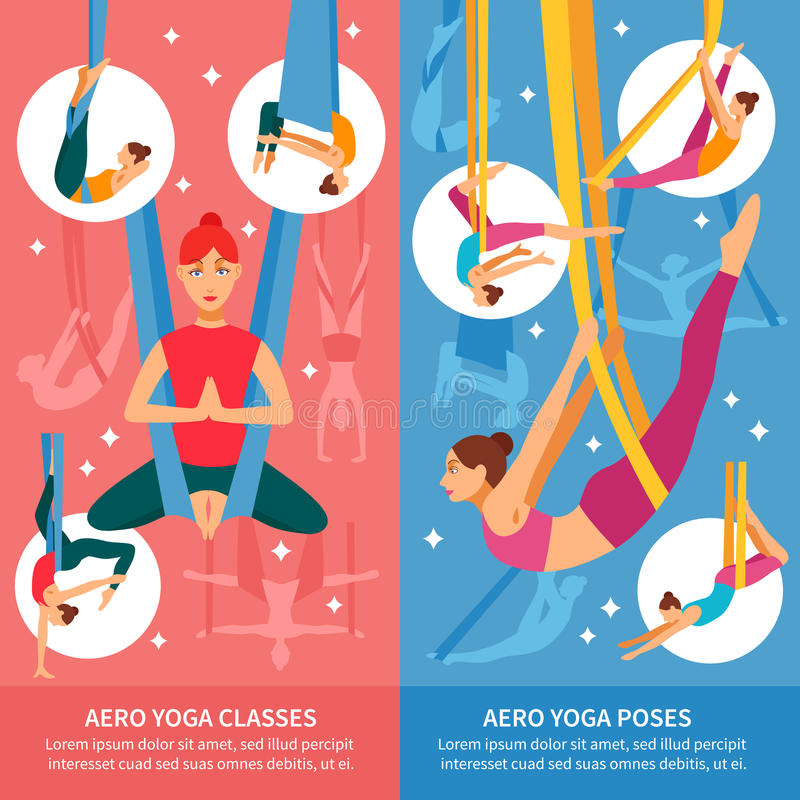 De Bannerreeks van de Aeroyoga stock illustratie