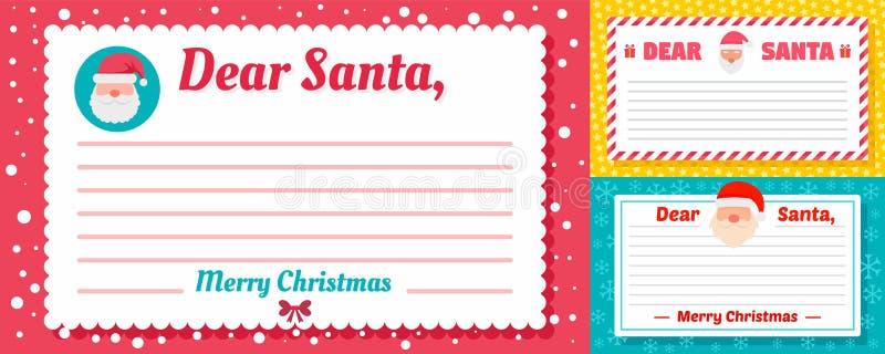 De bannerreeks van de kerstmanbrief, vlakke stijl royalty-vrije illustratie