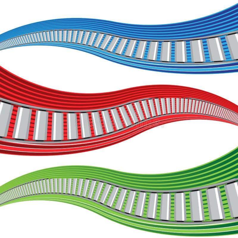 De Bannerreeks van de Transportbandgolf stock illustratie