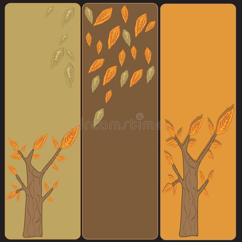 De banners van bomen royalty-vrije illustratie