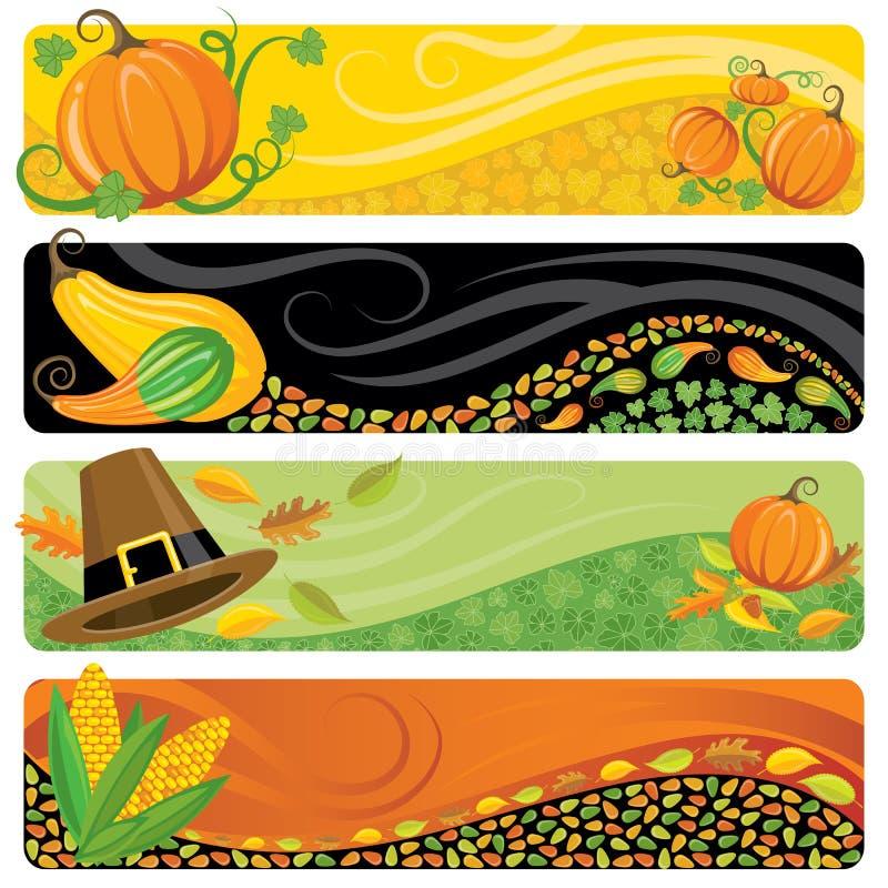 De Banners van de dankzegging stock illustratie