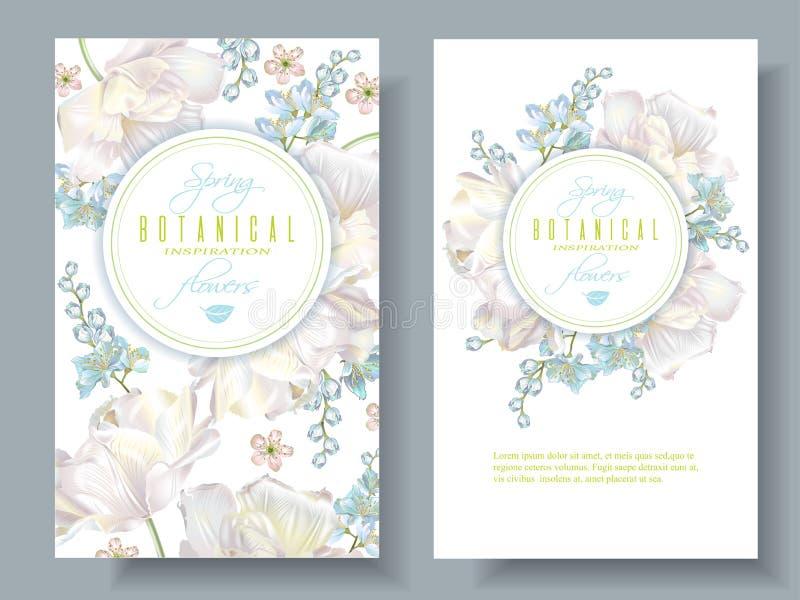 De banners van de de lentebloem vector illustratie