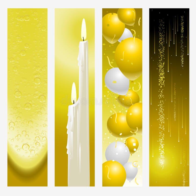 De banners van de gouden bruiloft