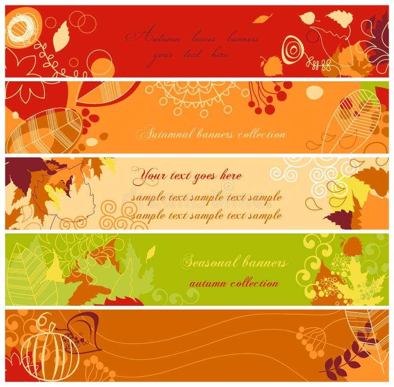De banners van de herfst vector illustratie