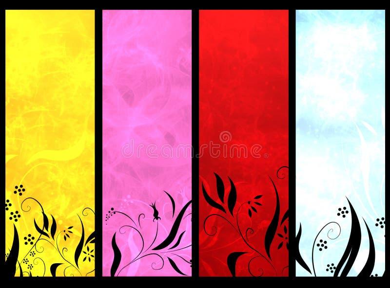 De banners van de kleur stock illustratie
