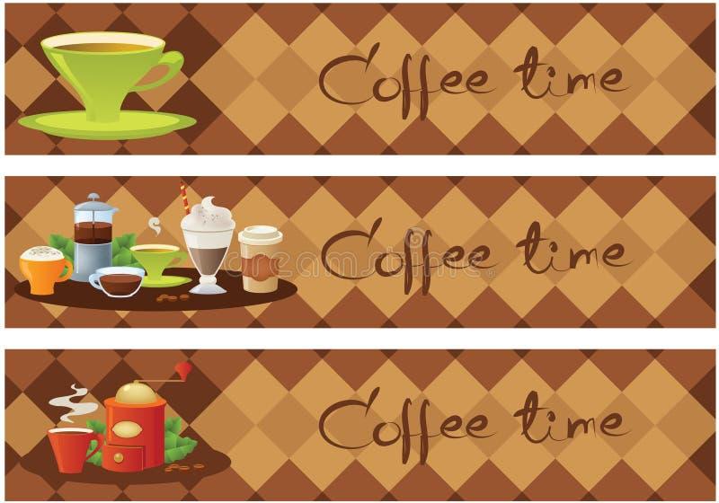 De banners van de koffie vector illustratie