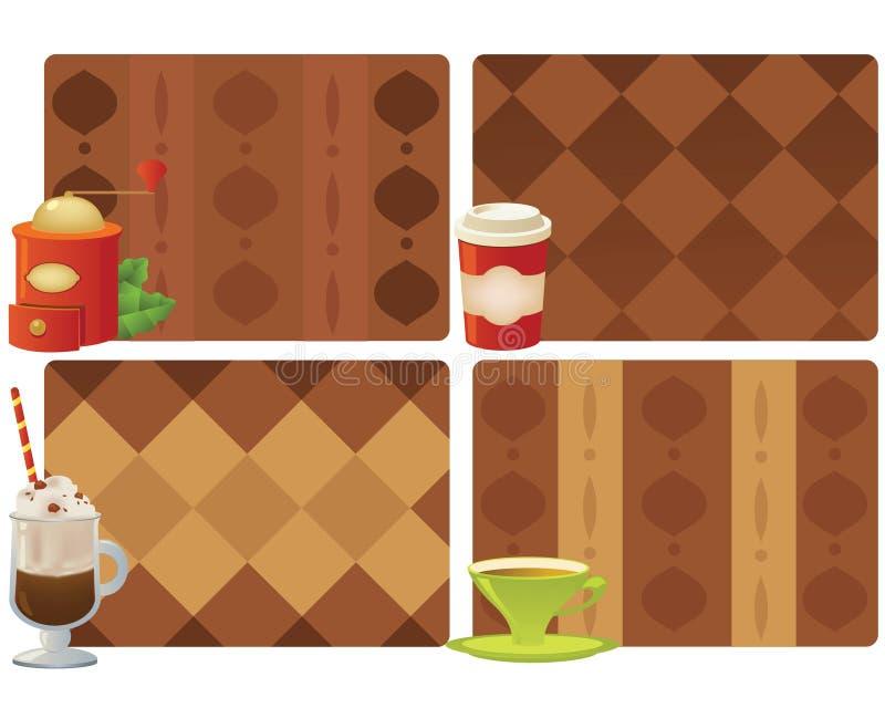 De banners van de koffie stock illustratie