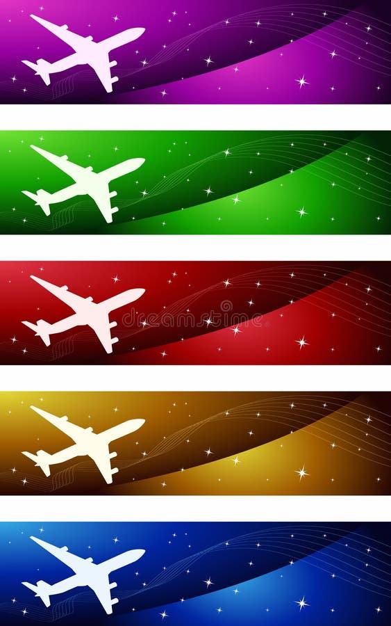 De Banners van de luchtvaart stock illustratie