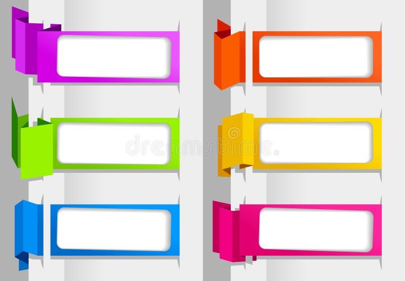 De banners van de origami vector illustratie