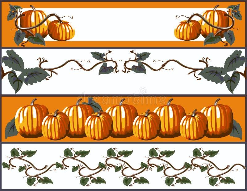 De Banners van de pompoen vector illustratie