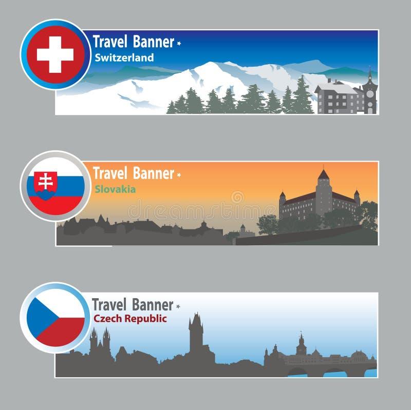 De banners van de reis royalty-vrije illustratie