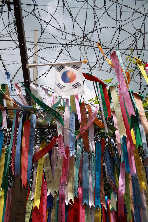 De Banners van de vrede in Zuid-Korea royalty-vrije stock afbeelding