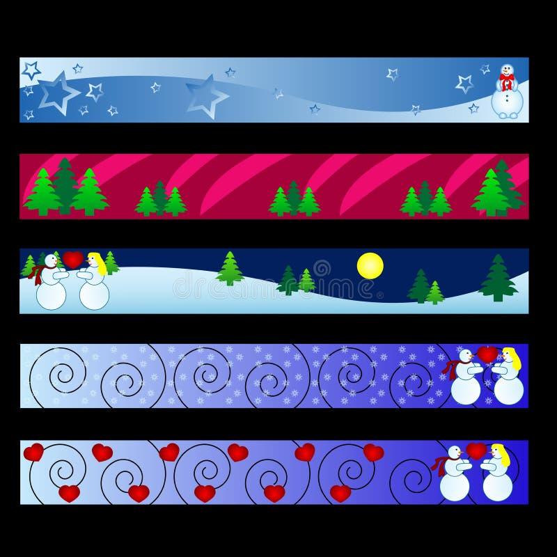 De banners van de winter royalty-vrije illustratie