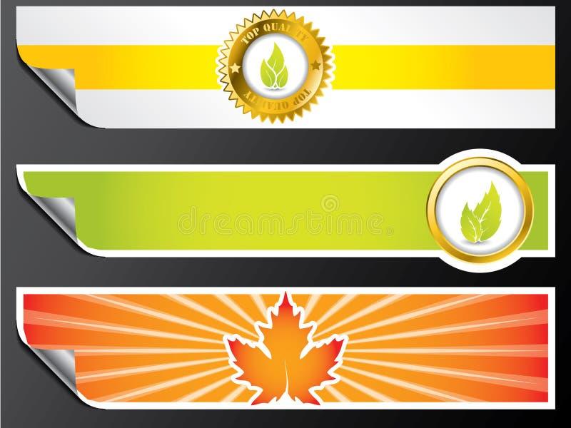 De banners van Eco vector illustratie