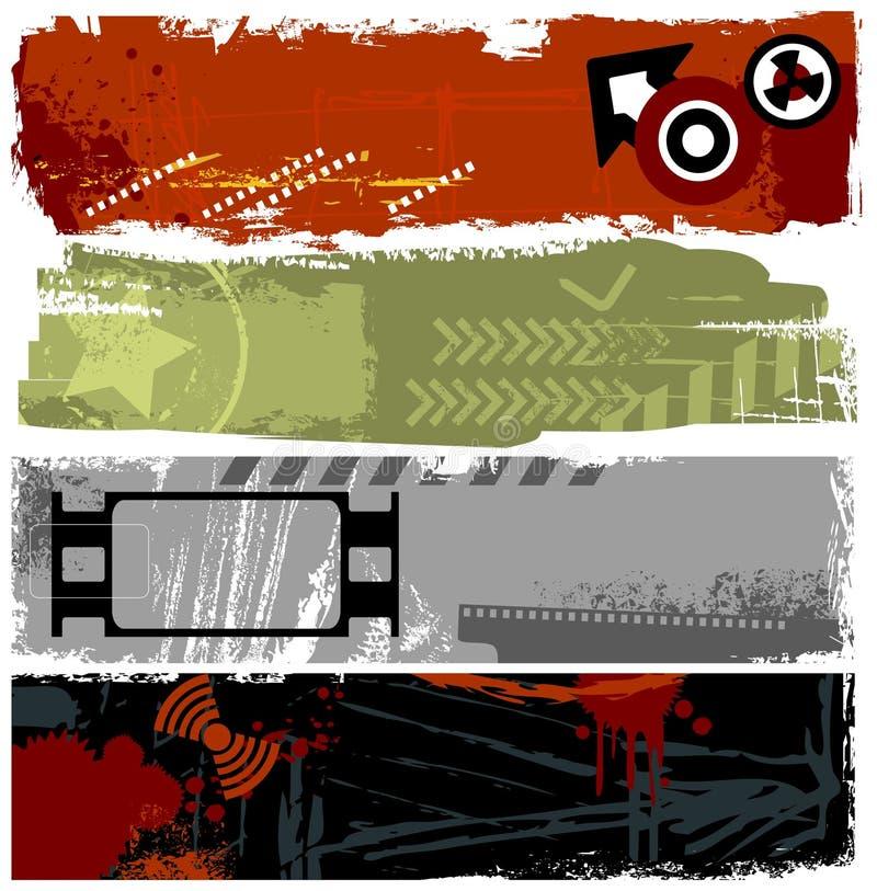 De banners van Grunge vector illustratie