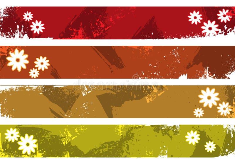 De banners van Grunge plaatsen hier uw tekst royalty-vrije illustratie