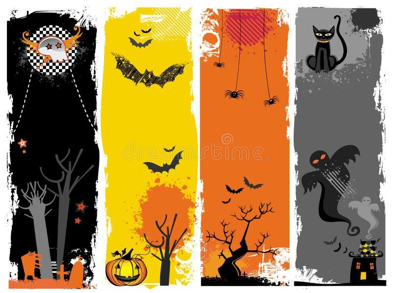 De banners van Halloween. royalty-vrije illustratie