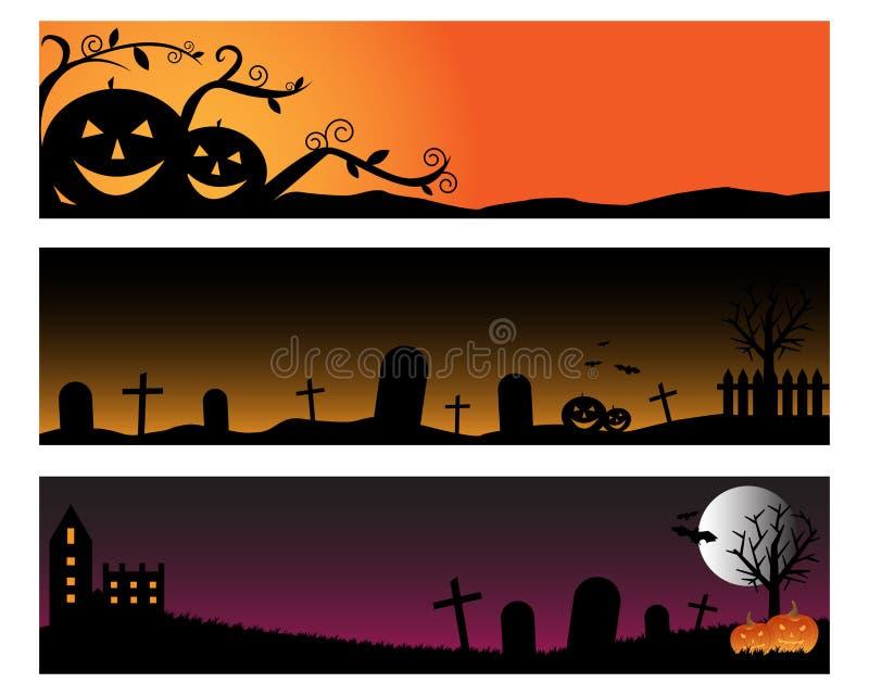 De banners van Halloween royalty-vrije illustratie