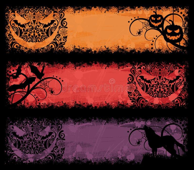 De banners van Halloween. vector illustratie