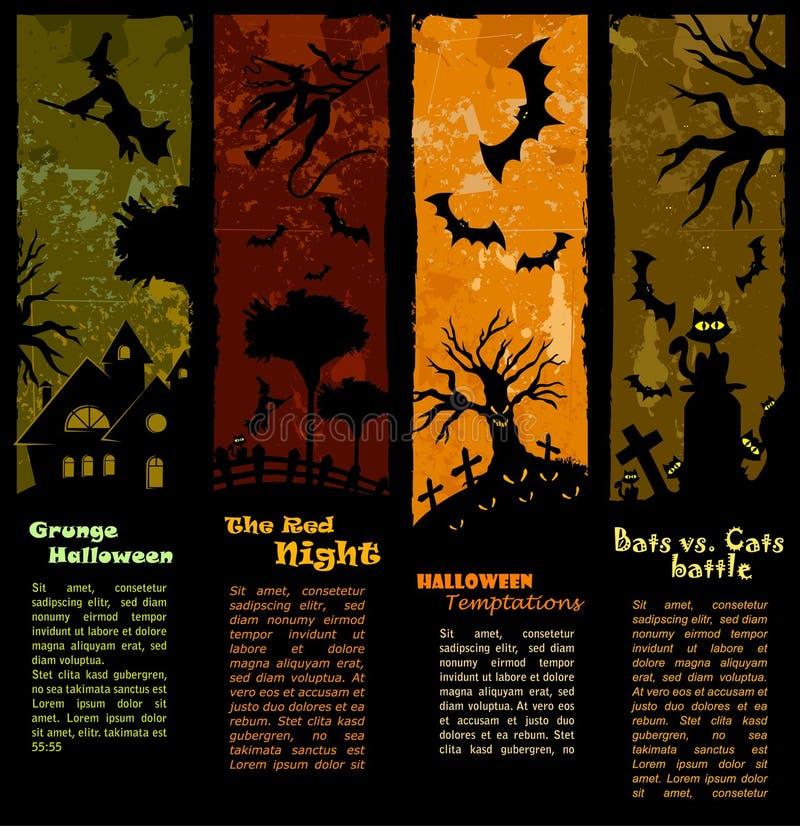 De Banners van Halloween - Verticale Reeks stock illustratie