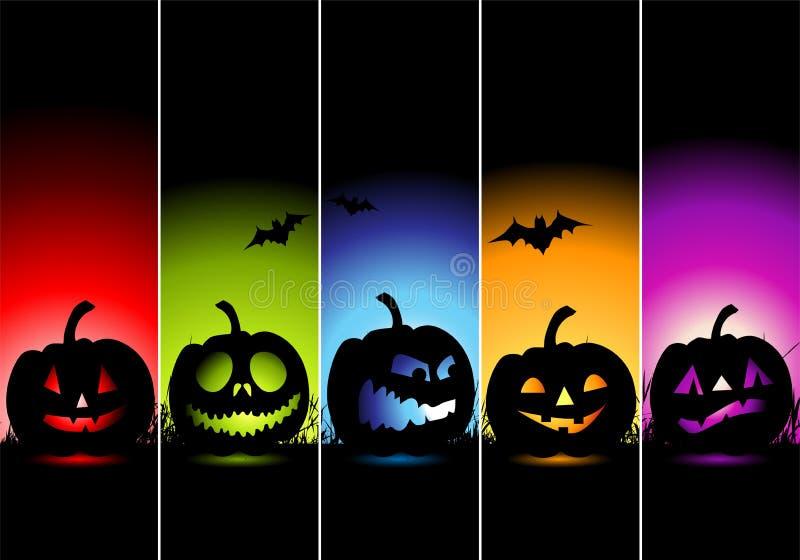 De banners van Halloween voor uw ontwerp stock illustratie