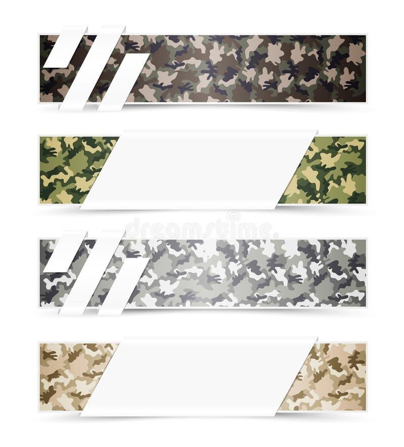 De Banners van het camouflageweb royalty-vrije illustratie