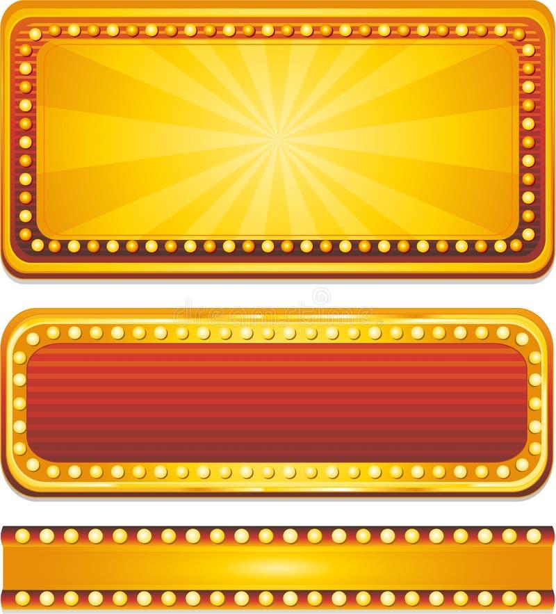De banners van het casino vector illustratie