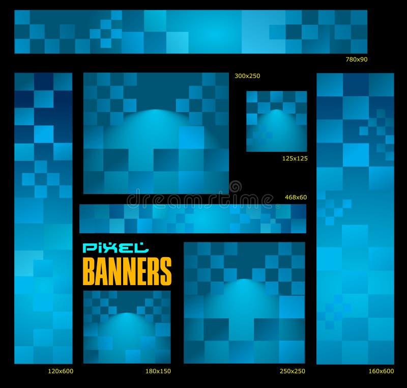 De banners van het mozaïek vector illustratie